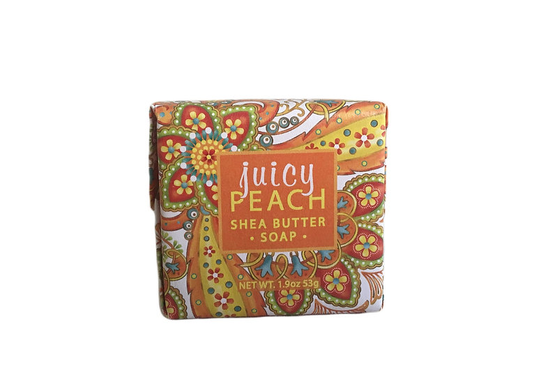 Juicy Peach Shea Butter Soap, 1.9oz
