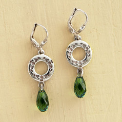1073437 IRISH CRYSTAL CLADDAGH EARRINGS.
