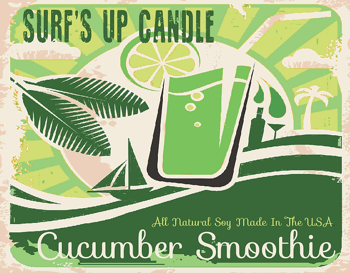 Paint Can Candle- Cucumber Smoothie