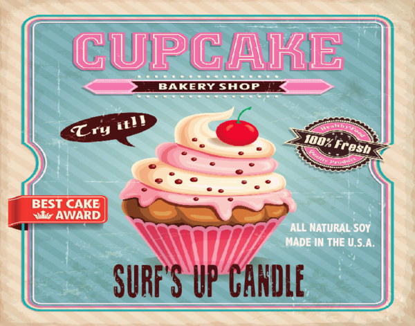 Paint Can Candle- Cupcake