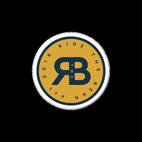 Ride the Bean logo sticker