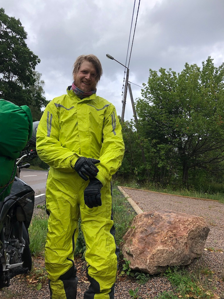 Kenneth | Ride the Bean | Motocamping | BMW rain suit