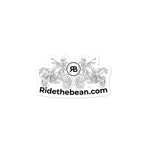 Ride the bean stickers