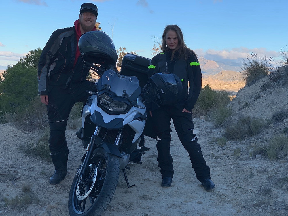 Kenneth & Pia | Ride the Bean | Alicante, Spain | Motocamping | BMW 850GS