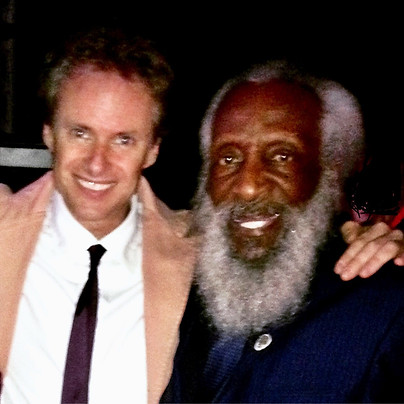 With the legendary Dick Gregory