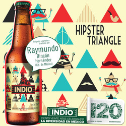 Botella INDIO Hipsters