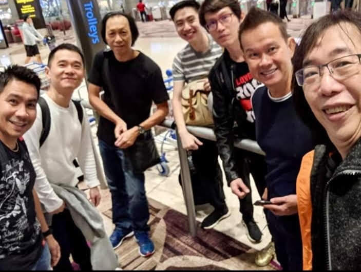 Band Photo at Changi Airport