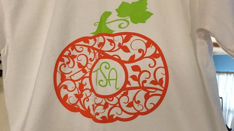 Monogram Pumpkin Vinyl T-Shirt