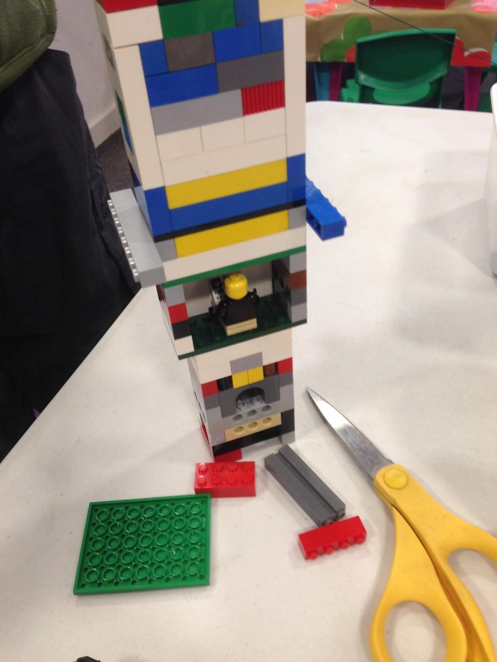 zip wire LEGO trolley