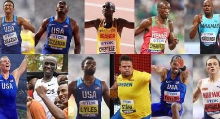 Los nominados al Atleta Mundial del año 2019