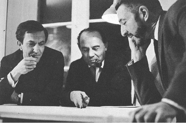 Antonio Peyrí, Enrique Castañeda y Félix Candela Arquitectos del Palacio de los Deportes