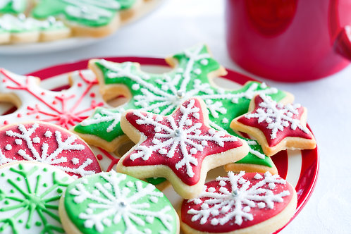 36 Assorted Christmas Ornament Cookies