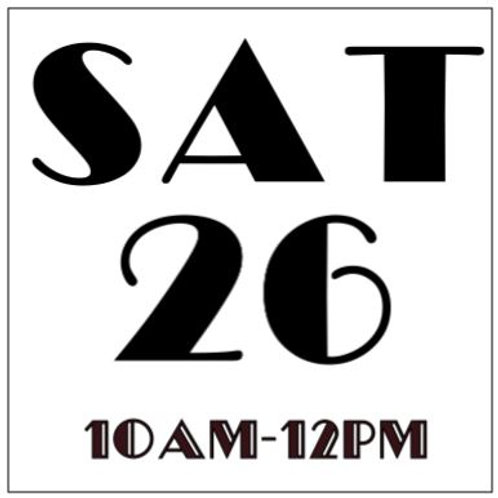 PRIORITY BOOKING SATURDAY OCT 26, 10AM-12PM