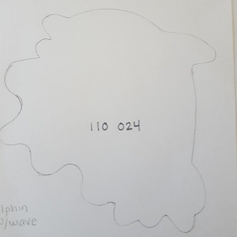 DOLPHIN DESIGN #2 (IN OCEAN WAVES)