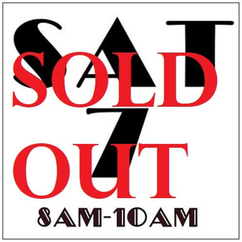 PRIORITY BOOKING SATURDAY SEPT 7, 2019 8AM-10AM