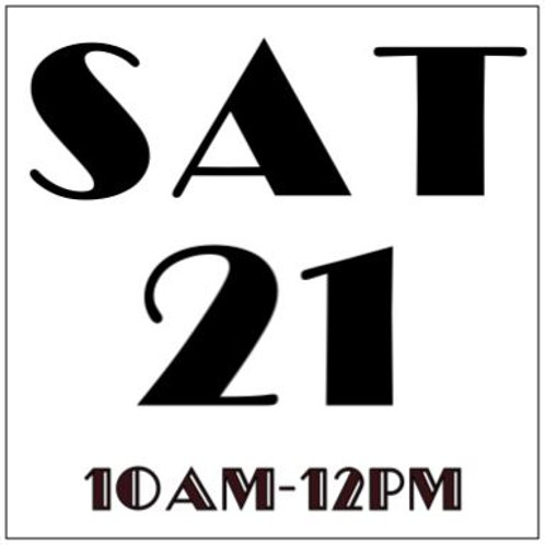 PRIORITY BOOKING SATURDAY SEPT 21, 2019 10AM-12PM