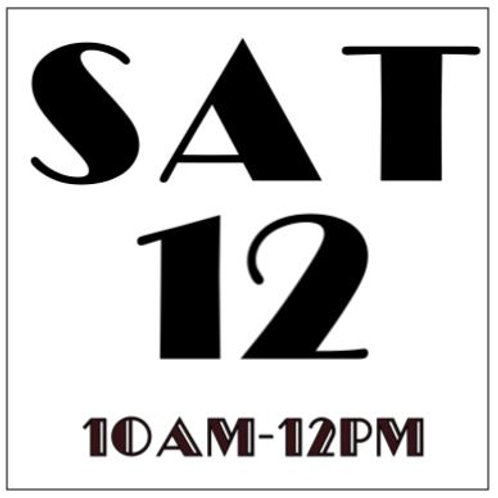 PRIORITY BOOKING SATURDAY OCT 12, 2019 10AM-12PM