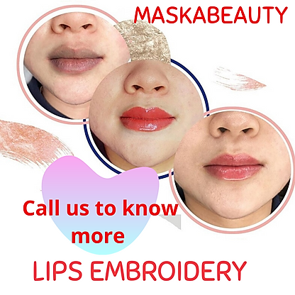 facial lips embroidery