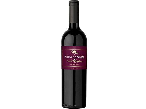 Botella de Vino Tinto Marca Pura Sangre