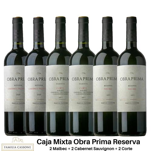 Caja de Vino Mixta Obra Prima Reserva