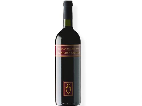 botella de vino El Gran Malbec de Ricardo Santos