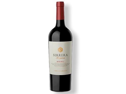 Botella de vino Serrera Reserva Malbec
