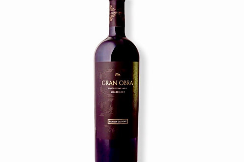 botella de vino Gran Obra Single Vineyard Malbec
