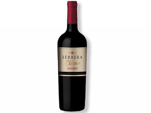 Botella de vino Serrera Clásico Malbec