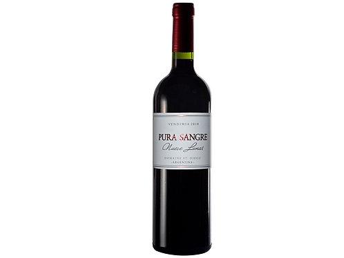 botella de vino marca Pura Sangre 9 Lunas