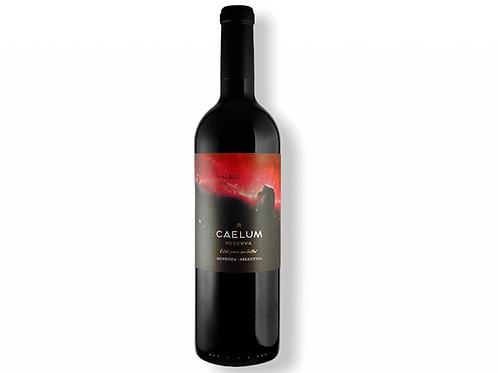 Botella de vino Caelum Gran Reserva Malbec