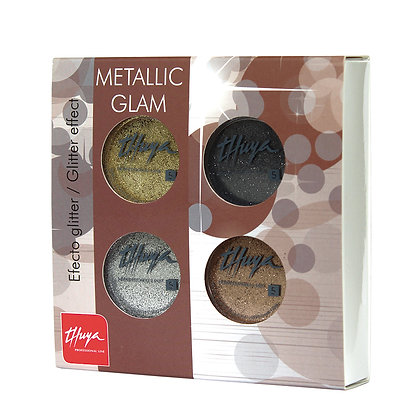 Thuya Gel On-Off Metalic Glam Kit 4 Pieces