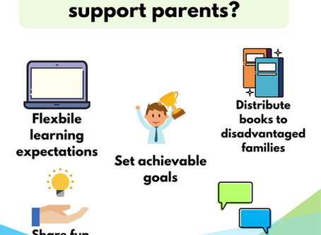 How can schools support parents throughout school closures?