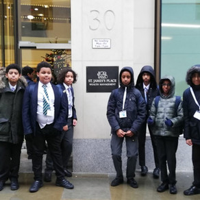 Marylebone Boys School are Inspired by St James Place on their World Of Work