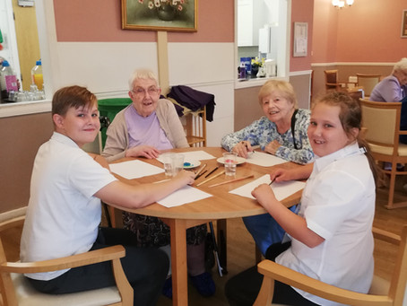Trinity Road Primary School Play their Part at Manor Lodge Care Home