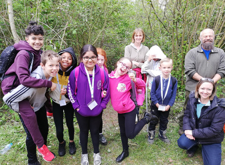 Goldsworth Primary School visit Herschel Park