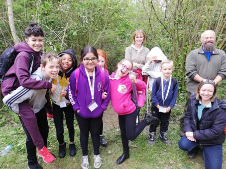 Goldsworth Primary School visit Herschel Park