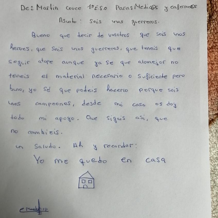 1º ESO Martín carta