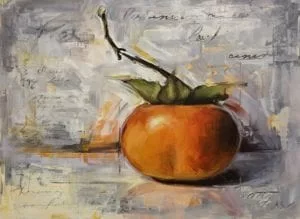 Still Life Painting with Persimmon