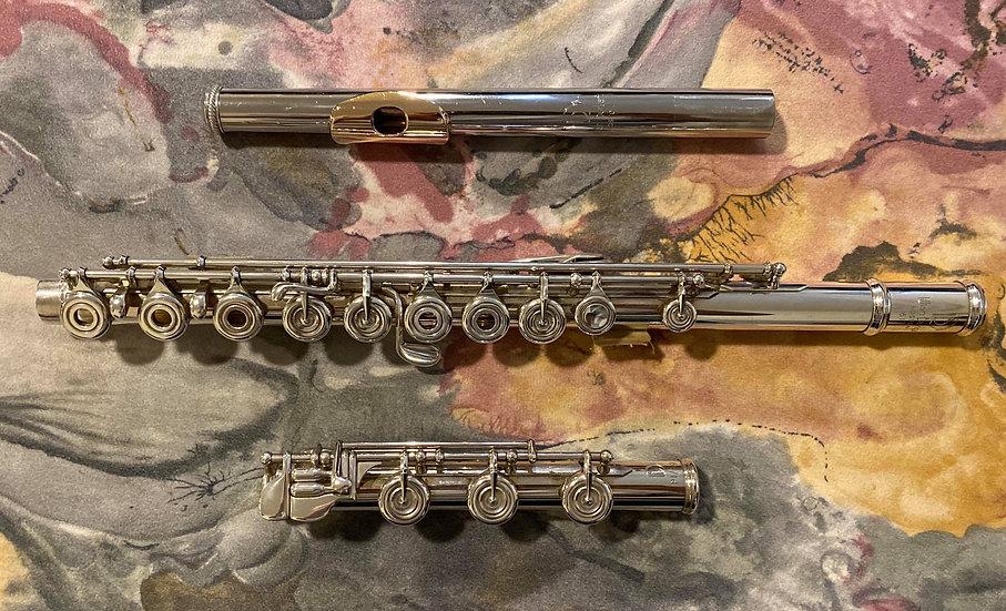 """Pre-Owned Lillian Burkart """"Elite Model"""" Flute in 5/95 Platinum Enhanced #617"""