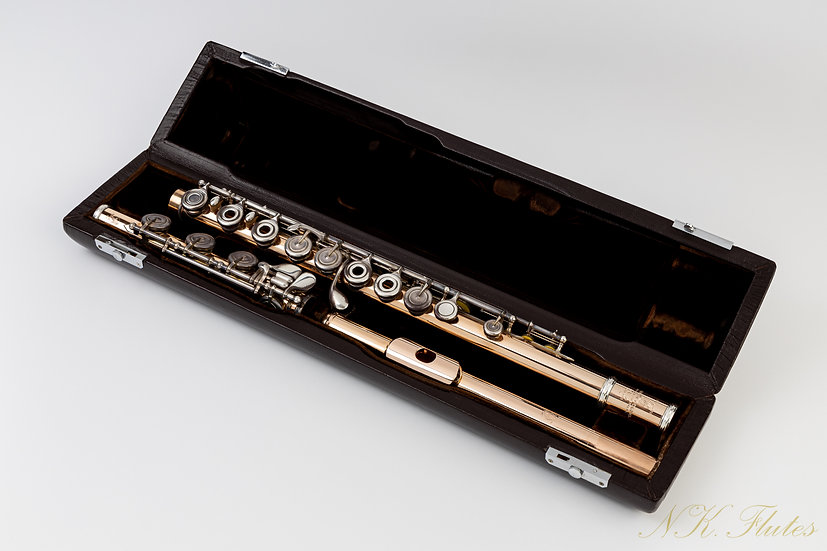 """Pre-Owned Brannen Brothers """"Brögger Flute"""" in 14K Gold with Silver Keys #7875"""