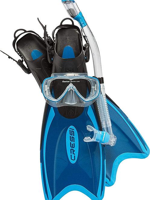Adult Light Weight Premium Travel Snorkel Set