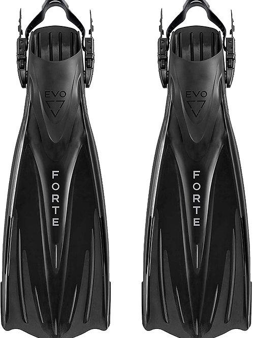EVO Forte Snorkel Fins Adjustable Diving Fins