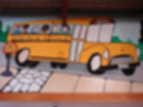 United Quick school bus painting
