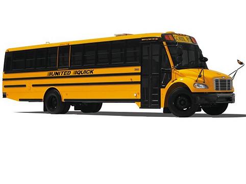 United Quick Thomasbuilt school bus