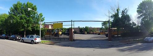 Latino Express school bus lot