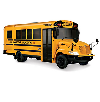 29 passenger United Quick International school bus