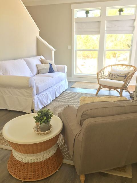 The living area in Dutch Treat 30A are light, bright and airy.