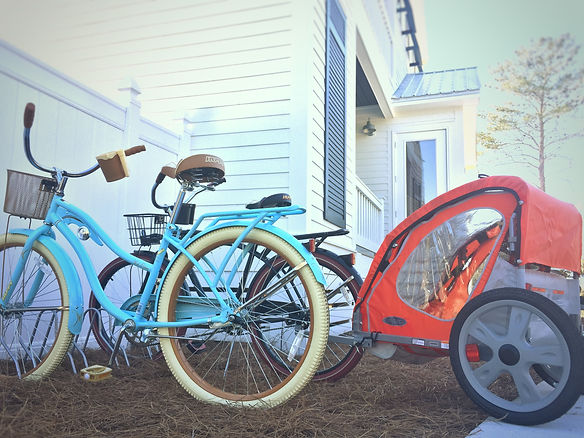Bikes and bike trailers are included with your stay at Dutch Treat 30A