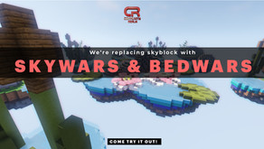 new SKYWARS & BEDWARS Servers!