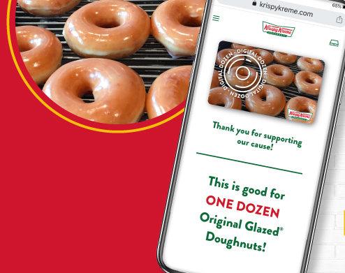 Send a dozen glazed donuts